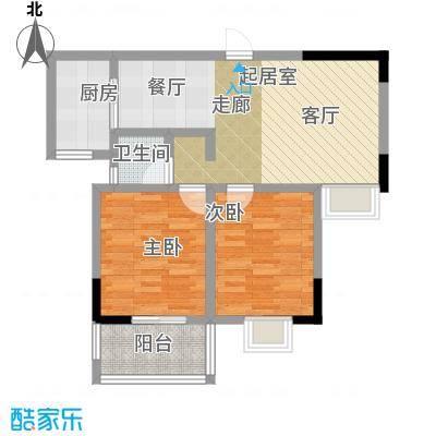 瑞景城户型2室1卫1厨