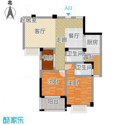 瑞景城户型3室2卫1厨
