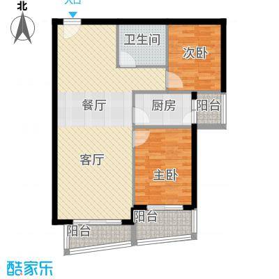 新世家小区94.54㎡D1户型2室2厅2卫