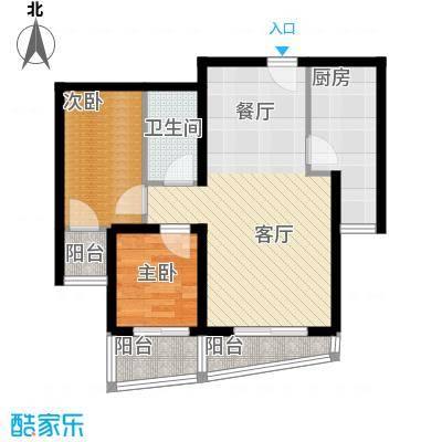 新世家小区93.92㎡A1户型2室2厅1卫