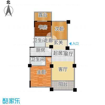 阳光下的红屋顶104.50㎡D户型多层花园洋房户型3室2厅2卫
