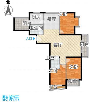 新世家小区147.84㎡B2户型3室2厅2卫