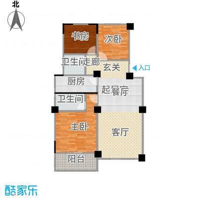 阳光下的红屋顶112.10㎡B户型多层花园洋房户型3室2厅2卫