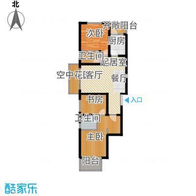 天水丽城二期114.91㎡A户型-三室两厅两卫户型3室2厅2卫