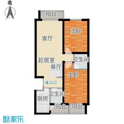 天水丽城二期119.30㎡A 两室两厅两卫户型2室2厅2卫
