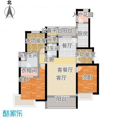富力十号户型2室1厅2卫1厨