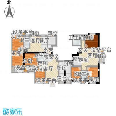 明湖・白鹭郡88.31㎡5号楼 两室两厅一卫户型2室2厅1卫