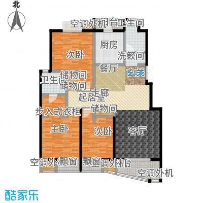 枫林湾143.32㎡G1户型三房两厅两卫,面积约143.32㎡户型2室2厅2卫