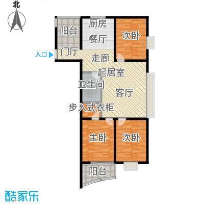 金威怡园户型3室1卫