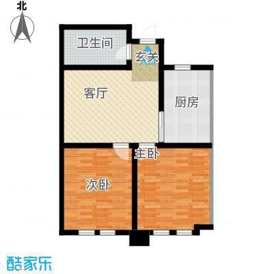 东发现代城户型2室1厅1卫1厨