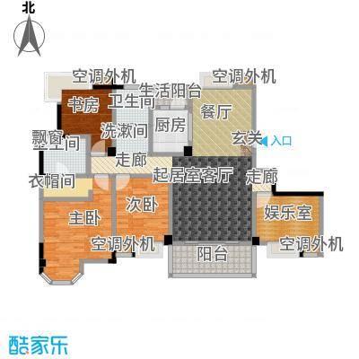 君怡美筑2-B户型 四居室 144平米户型