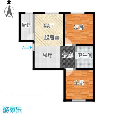 西美花街87.00㎡公寓 F4户型 两室两厅一卫户型2室2厅1卫