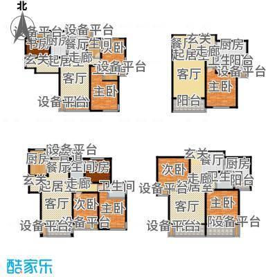 滨河花园--66套户型9室6卫4厨