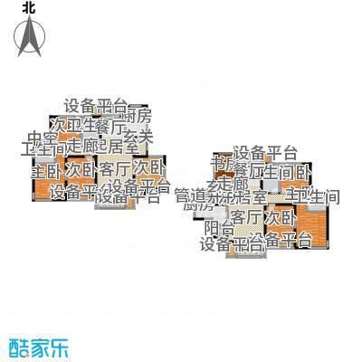 滨河花园--143套户型8室4卫2厨
