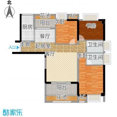 诚盛御庭117.00㎡117平米 四居室户型4室2厅2卫