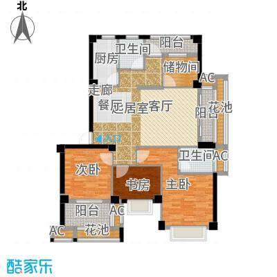 诚盛御庭120.00㎡120平米 四居室户型4室2厅2卫