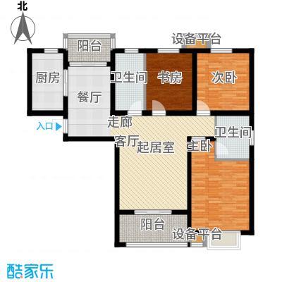 鼎泰观澜129.46㎡C户型3室2厅2卫