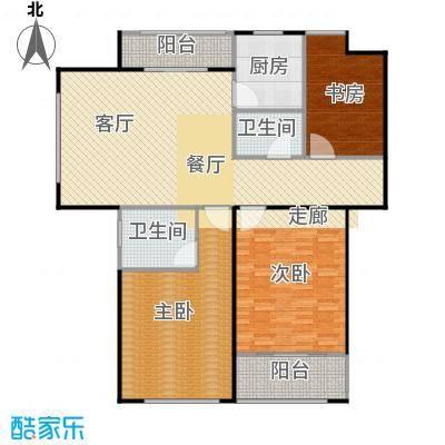 信华观澜盛世124.00㎡户型3室2厅2卫