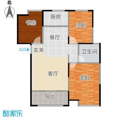 信华观澜盛世117.00㎡户型3室2厅1卫