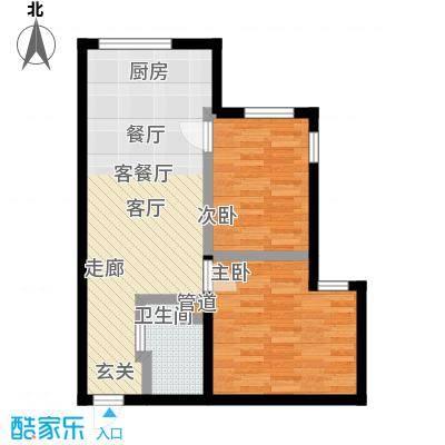 雅戈尔都市华庭C5两房一厅户型
