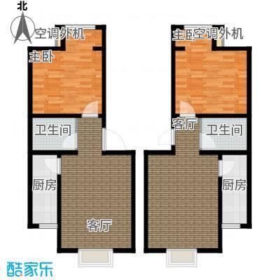 水郡花洲2号公寓1单元户型1室1厅1卫