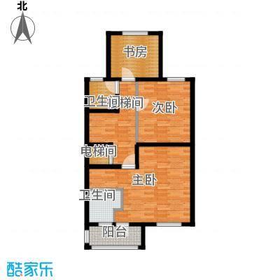 天山观澜墅75.00㎡二层平面图户型