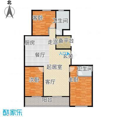 上城上林苑143.02㎡8号楼D2户型3室2厅2卫