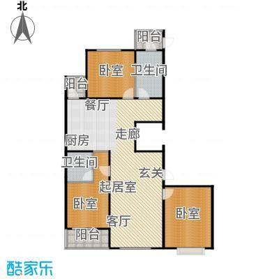 上城上林苑147.30㎡3号楼D1户型3室2厅2卫