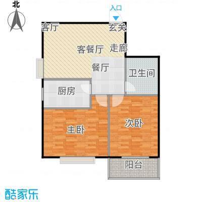 太原学府苑户型2室1厅1卫1厨
