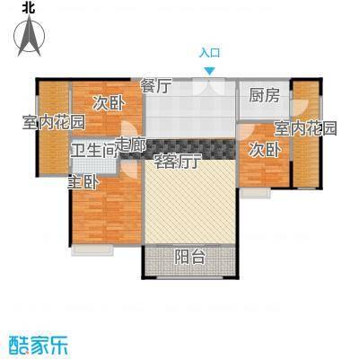 领秀御园户型3室1厅1卫1厨