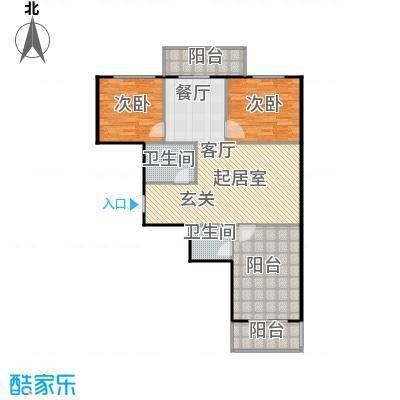 太原学府苑户型2室2卫