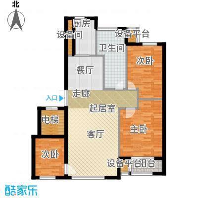 河海龙湾109.00㎡户型图户型3室2厅1卫