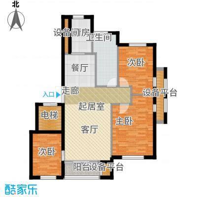 河海龙湾105.20㎡户型图户型3室2厅2卫