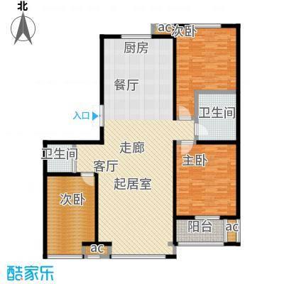 龙港花园146.00㎡户型3室2厅2卫