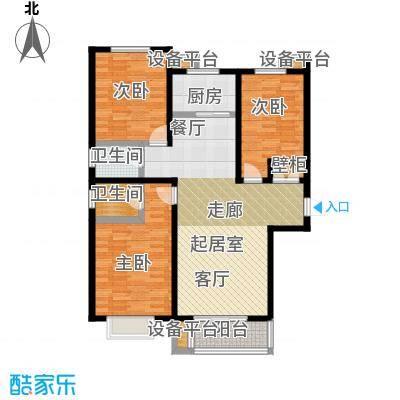 龙华苑G户型3室2厅2卫户型3室2厅2卫