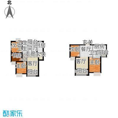 金信融城户型5室2厅2卫2厨