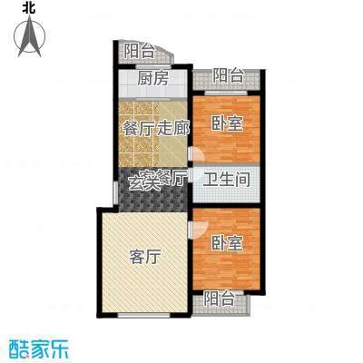 世贸皇冠花园112.50㎡世贸皇冠花园 户型图户型2室2厅1卫