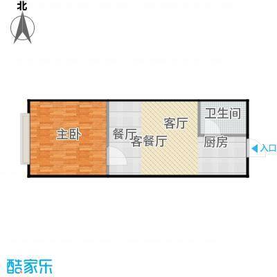 潍坊世贸中心56.67㎡E户型 一室一厅一卫户型1室1厅1卫