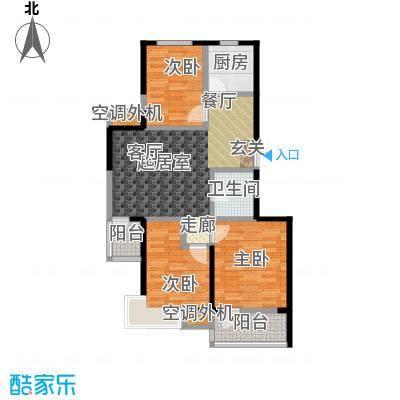 河海丽湾93.90㎡户型图户型3室2厅1卫