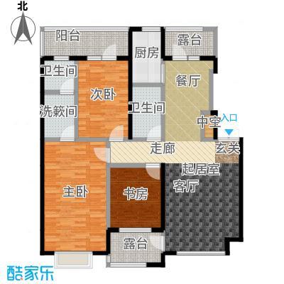 河海丽湾123.91㎡户型图户型3室2厅2卫