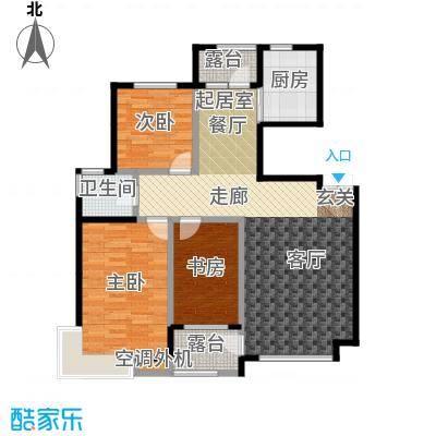 河海丽湾111.48㎡户型图户型3室2厅1卫