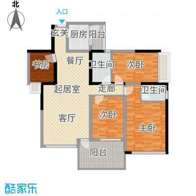 时代东安四室两厅双卫户型