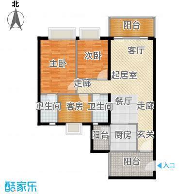 嘉逸园120.05㎡2栋2单元120平米三房二厅二卫户型3室2厅2卫