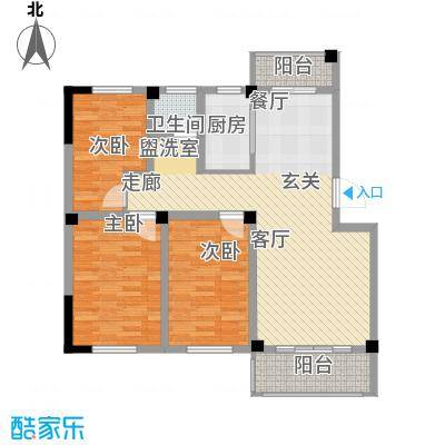 兴业金海花园93.00㎡D户型3室2厅1卫