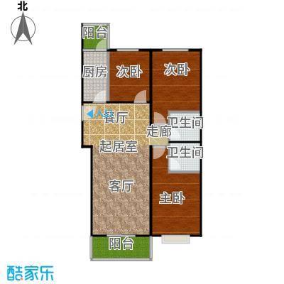 东润花园117.56㎡东润花园15#D户型3室2厅2卫