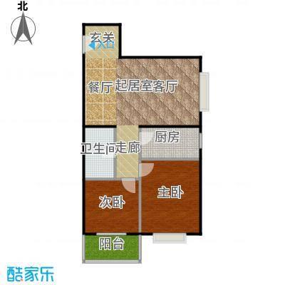 东润花园92.45㎡东润花园16#B户型2室2厅1卫