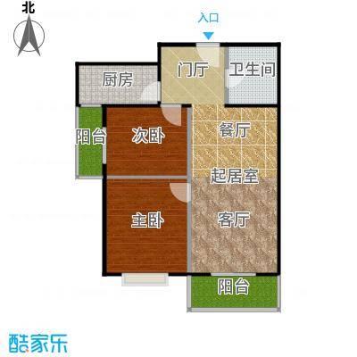 东润花园93.94㎡东润花园16#C户型2室2厅1卫