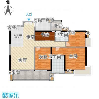 越秀星汇隽庭157.00㎡4栋01户型4室2厅2卫