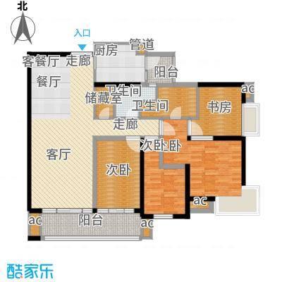 越秀星汇隽庭157.00㎡2栋01户型4室2厅2卫