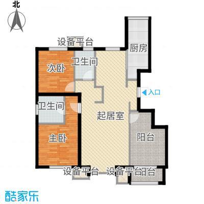 朗�骏景115.00㎡户型图户型3室2厅1卫